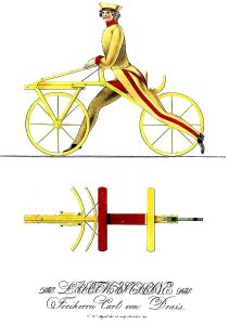 The early bicycle.