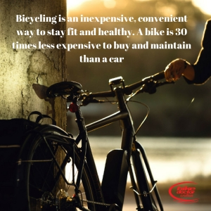 A bike is 30 times less expensive to buy and maintain then a car.